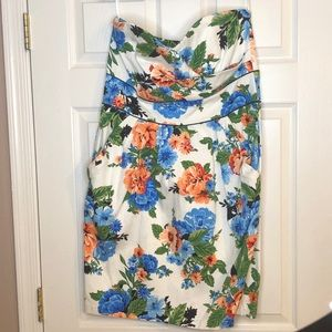 Torrid strapless floral dress, SZ 14
